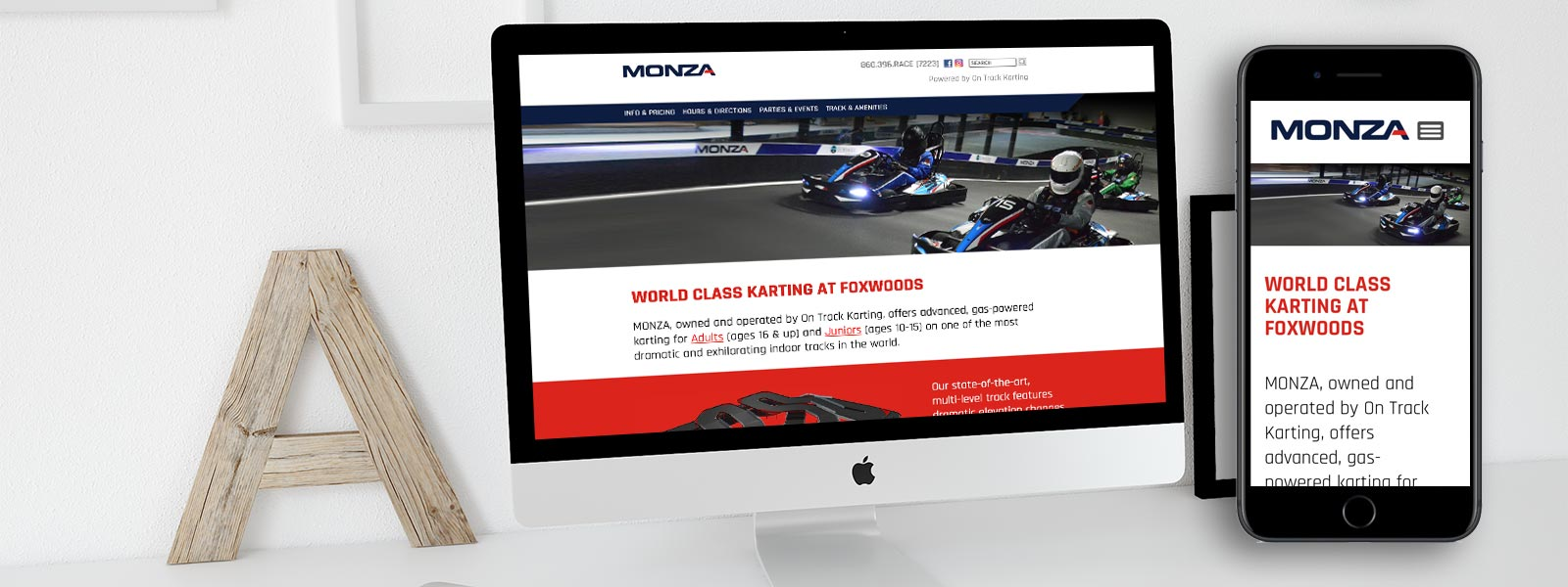 Monza Karting Website